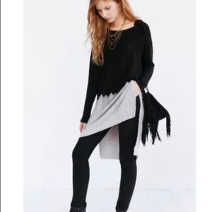 Black and grey Tunic top
